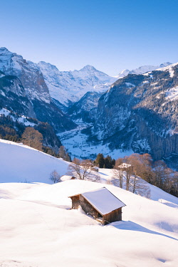 SWI8305AW Wengen and Lauterbrunnen valley, Berner Oberland, canton of Bern, Switzerland