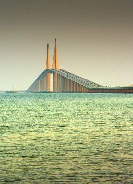 US11965 Sunshine Skyway Bridge, Tampa Bay, Saint Petersburg, Florida