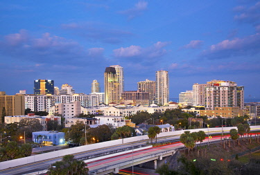 US11969 Florida, Saint Petersburg, Skyline, Tampa Bay, Pinellas County