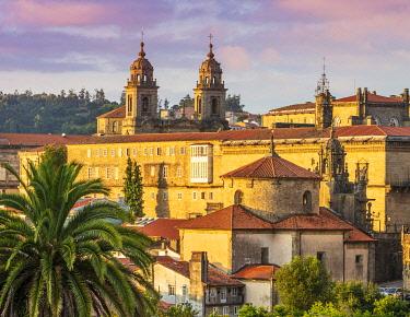 SPA8913AW Spain, Galicia, Santiago de Compostela, cathedral, Church of San Fructuoso. UNESCO World Heritage site