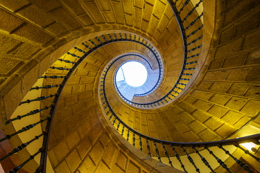 SPA8902AW Spain, Galicia, Santiago de Compostela, ' Triple spiral staircase of floating stairs, Convent of Santo Domingo de Bonaval