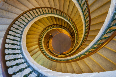 SPA8903AW Spain, Galicia, Santiago de Compostela, ' Triple spiral staircase of floating stairs, Convent of Santo Domingo de Bonaval