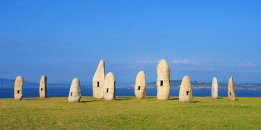 SPA8826AW Spain, Galicia, La Coruna, menhirs (MR)