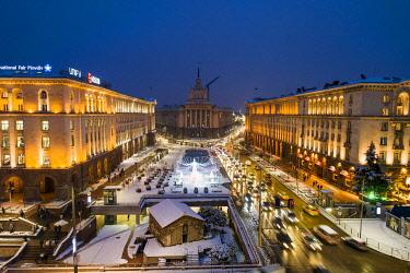 BUL0257 Europe, Bulgaria Sofia, National Assembly building and Petka chapel