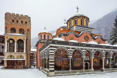 BUL0279 Europe, Bulgaria, Church of the Nativity of the Virgin Mother at Rila Monastery, Unesco site