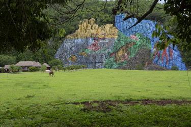 CLKNO101057 Mural de la Prehistoria in Parque Nacional de Vinales, Pinar del Rio Province, Cuba