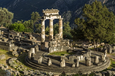 CLKNO101479 The Delphic Tholos in the archeological site of Delphi, Phocis, Greece