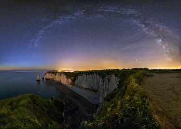CLKMB103411 Milkyway at Etretat, Octeville sur Mer, Le Havre, Seine Maritime, Normandy, France