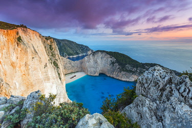 Shipwreck on Navagio Bay, North Zakynthos, Ionian Islands, Greece