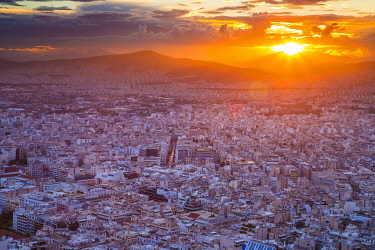 CLKNO101511 Sunset over Athens, Greece