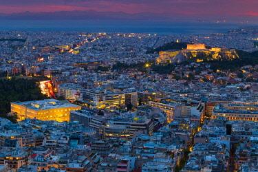 CLKNO101513 The Acropolis city center in Athens, Greece