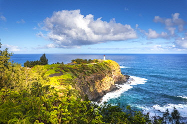 CLKST105819 Kilauea lighthouse, northern shore of Kauai island, Hawaii, USA
