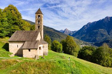 CLKSC100481 San Carlo di Negrentino church in Leontica, Acquarossa, Valle di Blenio, Canton Ticino, Switzerland, Europe
