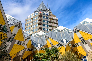 CLKFR98155 Cube houses in Overblaak Street in Rotterdam, Netherlands
