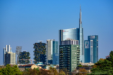 CLKFR102270 Milan, Porta Nuova district skyscrapers, Lombardy, Italy