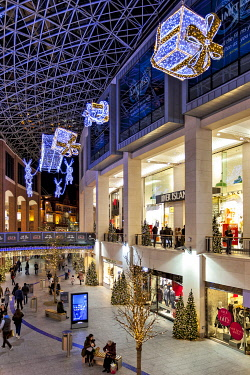 NIR8931 Interior of Victoria Square Shopping Centre, Belfast, Co. Antrim, Northern Ireland, United Kingdom.