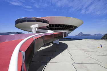 "BRA3764 The Niterói Contemporary Art Museum (Museu de Arte Contemporânea de Niterói â�"" MAC) is situated in the city of Niterói, Rio de Janeiro, Brazil, and is one of the cityâ��s main landmarks. It was..."