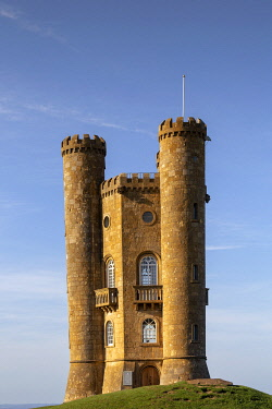 ENG16163 Broadway Tower, an 18th-century folly in the Cotswolds designed by Capability Brown, Worcestershire, England
