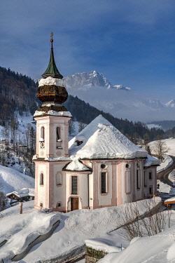 GER11720AW Maria Gern church, Berchtesgaden, Bavaria, Germany
