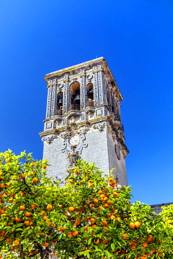 SPA9014AW Parroquia De Santa Maria or St. Mary Parish, Arcos de la Frontera, Andalusia, Spain
