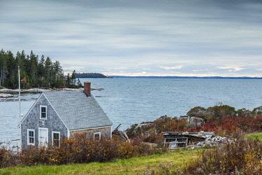 US16302 USA, Maine, Stonington, lobster shack