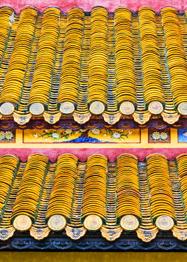 VIT1525AWRF The tile roof in the Imperial City, Hue, Vietnam