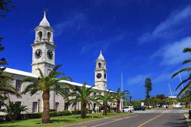BU01099 Bermuda, Royal Naval Dockyard, the Clocktowers