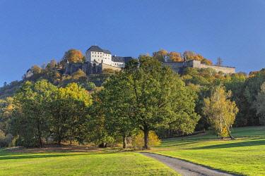 IBXMAL04832736 Koenigstein Fortress, Elbe Sandstone Mountains, Saechsische Schweiz, Saxon Switzerland, Saxony, Germany, Europe