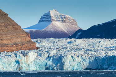 IBXOMK04852346 Nora peak, Kronebreen, Kongsfjorden, Spitsbergen archipelago, Svalbard, Norway, Europe