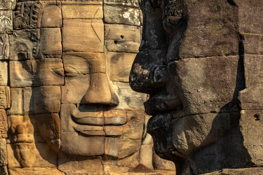CMB1642AWRF Asia, Cambodia, Siem Reap, UNESCO World Heritage, Angkor Thom, Bayon