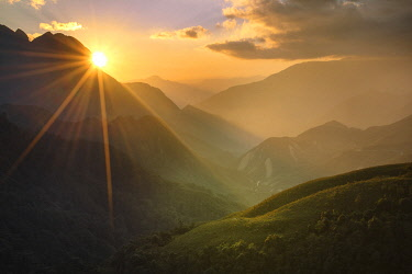 VIT1623AW Asia, Vietnam, Hoàng Liên Son Mountains, Sapa