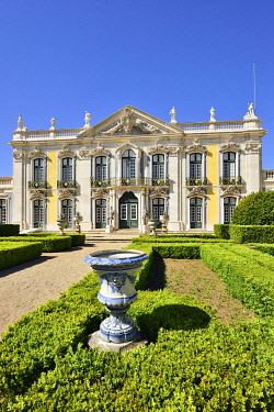 POR10559AWRF The Queluz National Palace (Palacio Nacional de Queluz), dating back to the 18th century, is a reference of rococo and neoclassical architecture in Portugal. Lisbon, Portugal