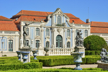 POR10523AW The Queluz National Palace (Palacio Nacional de Queluz), dating back to the 18th century, is a reference of rococo and neoclassical architecture in Portugal. Lisbon, Portugal