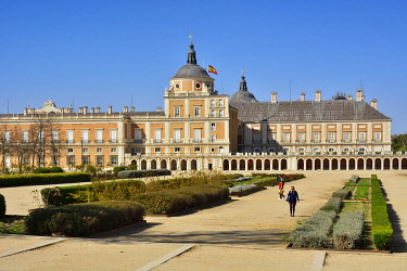 SPA9084AW The Royal Palace of Aranjuez (Palacio Real de Aranjuez) is a former Spanish royal residence dating back to the 16th century. A Unesco World Heritage Site. Aranjuez, Spain