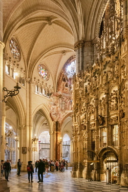SPA9089AW The Catedral Primada (Primate Cathedral of Saint Mary of Toledo), dating back to the 13th century, is considered the magnum opus of the Gothic style in Spain. A Unesco World Heritage Site, Toledo. Cas...