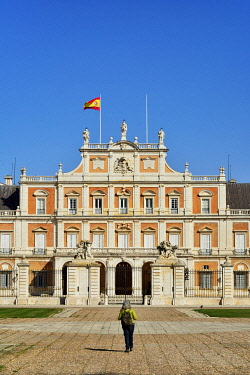 SPA9098AW The Royal Palace of Aranjuez (Palacio Real de Aranjuez) is a former Spanish royal residence dating back to the 16th century. A Unesco World Heritage Site. Aranjuez, Spain (MR)