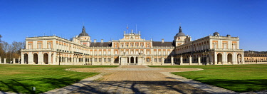 SPA9103AW The Royal Palace of Aranjuez (Palacio Real de Aranjuez) is a former Spanish royal residence dating back to the 16th century. A Unesco World Heritage Site. Aranjuez, Spain