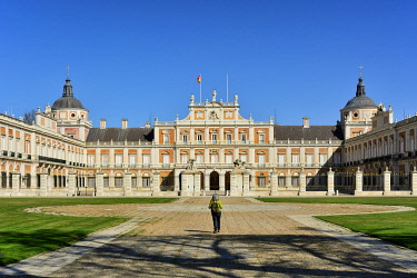 SPA9110AW The Royal Palace of Aranjuez (Palacio Real de Aranjuez) is a former Spanish royal residence dating back to the 16th century. A Unesco World Heritage Site. Aranjuez, Spain (MR)