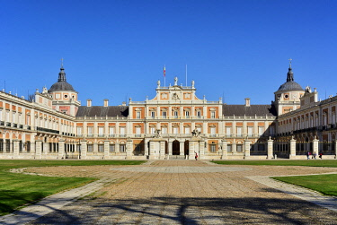 SPA9144AW The Royal Palace of Aranjuez (Palacio Real de Aranjuez) is a former Spanish royal residence dating back to the 16th century. A Unesco World Heritage Site. Aranjuez, Spain