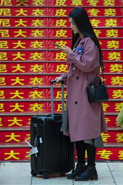 CH11793AW Asia, China, Sichuan Province, Chongqing, street,