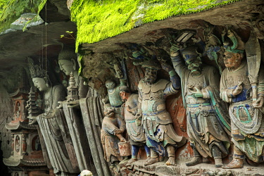 CH11794AW Asia, China, Sichuan Province, Chongqing, Dazu Rock Carvings, UNESCO, Buddhist, Confucian and Taoist