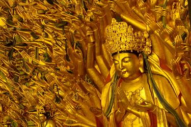CH11795AW Asia, China, Sichuan Province, Chongqing, Dazu Rock Carvings, UNESCO, Buddhist, Confucian and Taoist