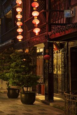 CH11834AW Asia, China, Peoples Republic, Sichuan Province, Chengdu Buddha Zen Hotel