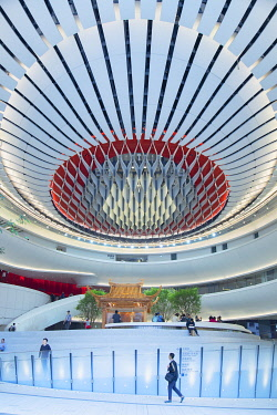 CH11852AW Interior of Xiqu Centre, West Kowloon, Hong Kong, China