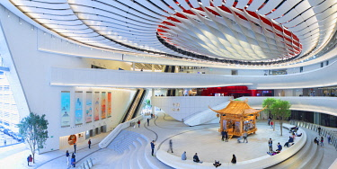 CH11861AW Interior of Xiqu Centre, West Kowloon, Hong Kong, China