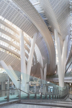 CH11888AW Interior of West Kowloon High Speed Rail Station, West Kowloon, Hong Kong