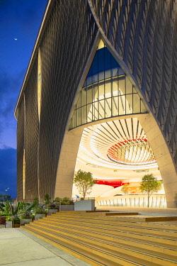 CH11894AW Xiqu Centre at dusk, Kowloon, Hong Kong