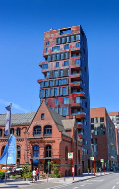IBLFRL04842213 Cinnamon Tower, Osakaallee, Überseequartier, Hafencity, Hamburg, Germany, Europe