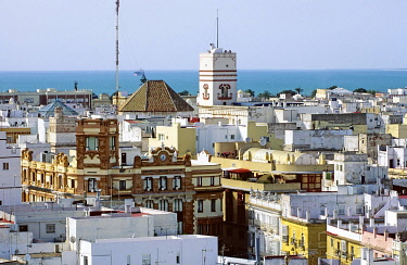 IBLKAS01789302 Historic district with Torre Tavira, Cadiz, Costa de la Luz, Andalusia, Spain, Europe