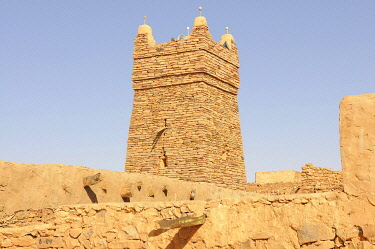 IBLKEL01786017 Chinguetti Mosque, Chinguetti, Mauritania, northwestern Africa, Africa